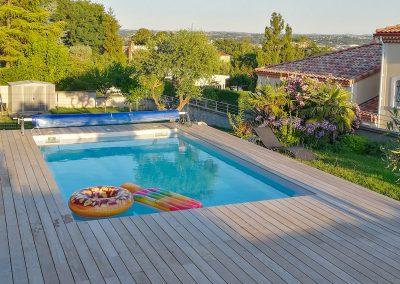 Terrasse de piscine en bois à Albi